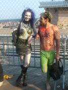 Merman Photo Prints - Goth Mermaid and Merman Print by Bernadette Claffey