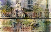 Architecture Painting Prints - Gothic Print by Andrew King