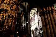 Popes Acrylic Prints - Gothic Cathedral in Freiburg Acrylic Print by Chris Brewington