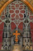 Gothic Cross Posters - Gothic Church 2 Poster by Scott Hovind