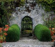 Garden Gate Prints - Gothic Entrance Gate, Walled Garden Print by The Irish Image Collection 