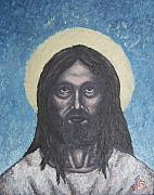 Michael Tmad Finney Painting Posters - Gothic Jesus Poster by Michael  TMAD Finney