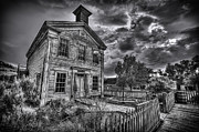 Masonic Framed Prints - Gothic Masonic Temple - Bannack Ghost Town Framed Print by Daniel Hagerman