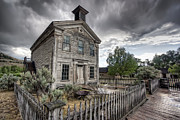 Western Trees Framed Prints - Gothic Masonic Temple 2 - Bannack Ghost Town Framed Print by Daniel Hagerman