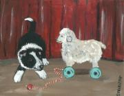 Collie Painting Framed Prints - Gots Me a Sheepie Framed Print by Sue Ann Thornton