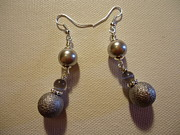Believe Jewelry Metal Prints - Gotta Have Gray Earrings Metal Print by Jenna Green
