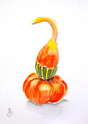 Gourds Paintings - Gouads -2 by Yoshiko Mishina