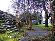 Architectur Metal Prints - Gougane barra church cork ireland Metal Print by Pat  J Falvey