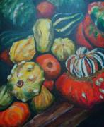 Gourds Paintings - Gourds by Edith Hunsberger
