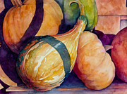 Gourds Paintings - Gourds in the Fall by Sherri Snyder