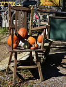 Rocking Chairs Photos - Gourds  by Larry Bishop