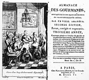 Front Page Framed Prints - Gourmands Almanac, 1806 Framed Print by Granger