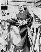 F.d.r. Prints - Gov. Franklin Roosevelt Speaking Print by Everett