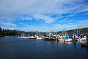 Sooke Prints - Government Wharf in Sooke Harbour Print by Louise Heusinkveld
