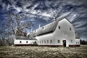 White Barns Prints - Governor Scott Dairy Farm Print by Benanne Stiens