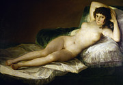 Reclining Paintings - GOYA: NUDE MAJA, c1797 by Granger