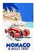 Racing Pastels - GP of Monaco 1937 by Lyle Brown