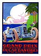 Racing Pastels - GP of Monaco Poster by Lyle Brown