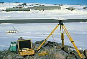Receiver Posters - Gps Receiver For Measuring Glacier Flow Rates Poster by David Vaughan