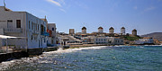 Urban Scenic Art - GR0019 Mykonos Greece by Steve Sturgill