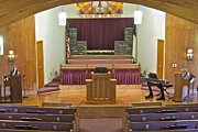 Podium Prints - Grace Baptist Church Print by Michael Peychich