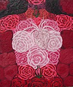 Roses Reliefs Posters - Grace Flows Poster by Arla Patch