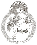 Celtic Cross Drawings - Grace for All by Wendy ONeil