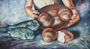 Bread Paintings - Grace by Ilse Kleyn
