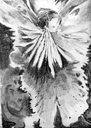 Graphite Art Originals - Grace in an Orchid by Mindy Newman