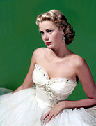 Strapless Dress Framed Prints - Grace Kelly, C. Mid-1950s Framed Print by Everett