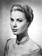 Choker Metal Prints - Grace Kelly, Ca. 1950s Metal Print by Everett
