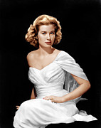 Strapless Dress Prints - Grace Kelly, Ca. 1954 Print by Everett