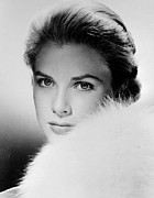 1950s Portraits Prints - Grace Kelly, Circa 1950s Print by Everett