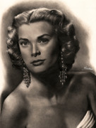 Graphite Framed Prints - Grace Kelly Framed Print by Consuelo Venturi