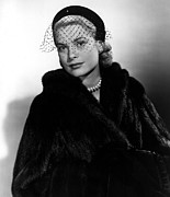 Fur Coat Framed Prints - Grace Kelly In The Early 1950s Framed Print by Everett