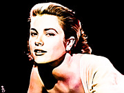 Kelly Mixed Media Framed Prints - Grace Kelly Framed Print by The DigArtisT