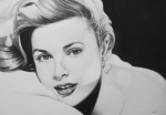 Hollywood Drawings Prints - Grace Print by Steve Hunter