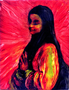 Religions Paintings - Grace the Salazar Soul by FeatherStone Studio Julie A Miller