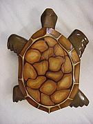 Featured Reliefs - Grace the Sea Turtle-SOLD by Lisa Ruggiero