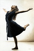 Black Dress Metal Prints - Graceful Enlightenment Metal Print by Richard Young