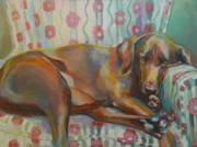 Golden Lab Paintings - Graces Throne by Kimberly Santini