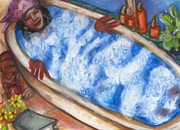 Black Art Paintings - GraceWork Bath by Janie McGee