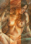 Nudes Canvas Posters - Gracia2 Poster by Arthur Braginsky