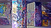 Graffiti Prints Prints - Graffiti Alley Print by Sharon Lisa Clarke