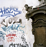 Anti Christianity Posters - Graffiti And The Angel Poster by Shaun Higson