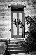Dilapidated Houses Prints - Graffiti Door at Glencoe-Auburn Complex Cincinnati Ohio Print by Paul Velgos