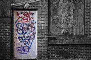 Seacoast Prints - Graffiti Door Print by Eric Gendron