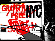 Pop Art Photos - Graffiti Free NYC  by Funkpix Photo  Hunter