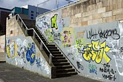 Graffiti Steps Prints - Graffiti Print by Mark Williamson