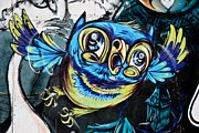Yurix Prints - Graffiti Owl Print by Yurix Sardinelly